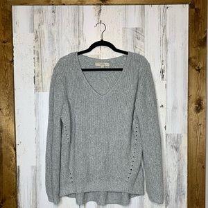 LOFT high low gray sweater size XL